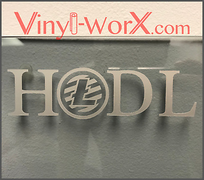 HODL Litecoin LTC Coin Vinyl Decal Sticker Blockchain cryptocurrency crypto gift