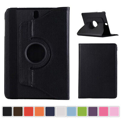 360 Rotating Slim PU Leather Folio Case Cover For Samsung Galaxy Tab A E Tablet