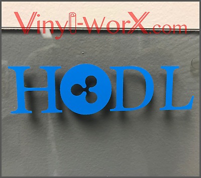 "HODL Ripple XRP Coin Vinyl Decal Sticker Blockchain cryptocurrency 6"" to 12"""
