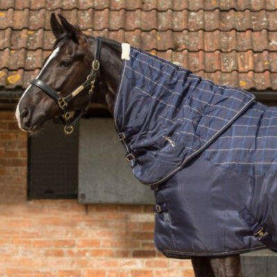 Mark Todd Ultimate Heavyweight Plaid Stable Unisex Horse Rug Neck Cover - Navy