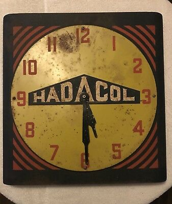 "Rare Hadacol Clock Advertising Sign 18"" x 18"" All Metal Frame and Display"