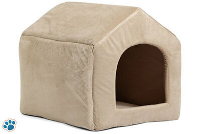 Pet Dog Cat Dome Bed Kitten Cave Cubby Basket Sofa Crate Kennel Rabbit Pup Large