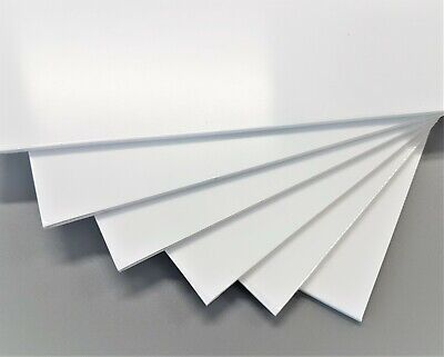 3mm A4 White Polystyrene High Impact Plasticard HIPS Sheet Packs of 1, 3, 5 & 10