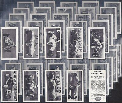 Kane-Full Set- Modern Racing Cars (50 Cards) - Exc+++