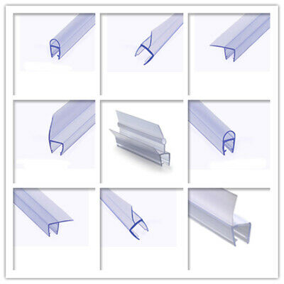 Curved PVC Plastic Shower Screen Door Bottom Seal Strip for 6-8mm Baths Glass