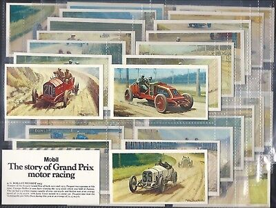 Mobil-Full Set- The Story Of Grand Prix Motor Racing (X36 Cards) - Exc