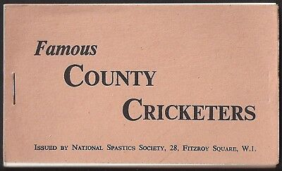 National Spastics Society-Full Set In Booklet- Famous County Cricket Ers - Exc