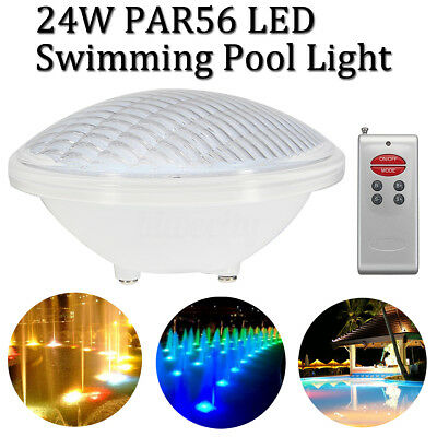 24W 546 Remote Control LED PAR56 RGB Pool Underwater Light Bulb Wall Mounted