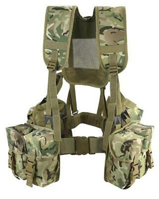 Army Style Combat Plce Set Btp British Camo Tactical Harness Airsoft Rig Cadet