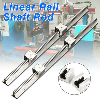 SBR12-600mm Fully Supported Linear Rail Shaft Rod 12MM  w/ 2pcs SBR12UU Blocks