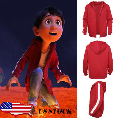 USA Children Cartoon Clothes Coco Anime Boys Miguel Kids Zip Hoodies Coat Hooded