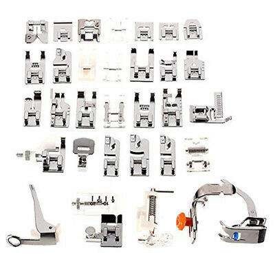 Set of 32pcs Domestic Sewing Machine Presser Foot Feet Set for Brother Janome