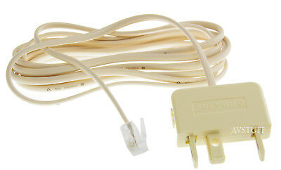 Telephone Cable Lead Modular To Australian 605 Phone Plug Connector 2M 2 Metres