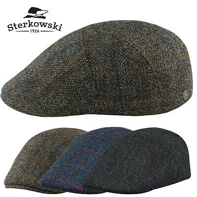 cc7f3541 Sterkowski 'IVY FIVE' Winter Harris Tweed 5 Panel Applejack Flat Cap ;  Newsboy