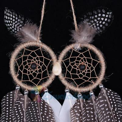 Newest Fashion Owl Dream Catcher Car Home Hanging Decoration Brown