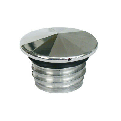 Dragon Choppers Gas Cap Vented Diamond Polished Aluminium (548030)