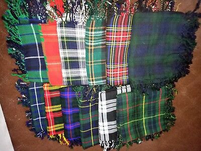 Tartan Scottish Purled Fringe Budget Piper Fly Plaid Kilt Multi Color Fly Plaid