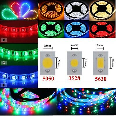 1-10M Waterproof Flexible Led Strip Lights 5050 3560 3528 SMD 300 LEDs Roll 12V