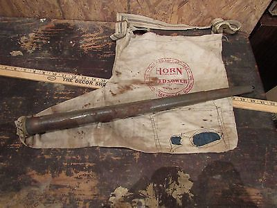 Cyclone seeder bag vintage home decore original rustic advertising