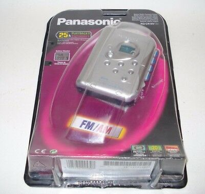 Panasonic Rq-Cr18V Compact Personal Fm/am/mw Radio Cassette Tape Player Gsp Bnib