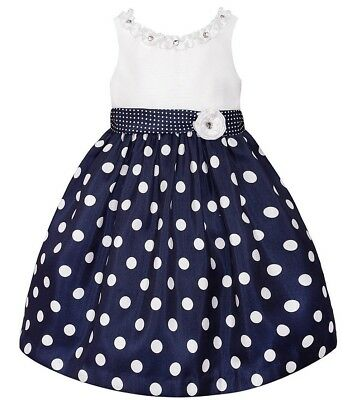 Girls AMERICAN PRINCESS boutique dress 5 6 7 NWT navy blue white party pageant