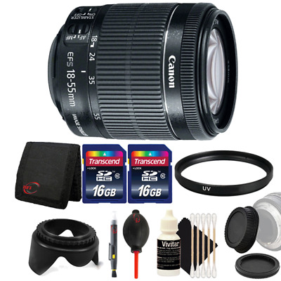 Canon EF-S 18-55mm f/3.5-5.6 IS STM Lens w/ Accessories For Canon 80D and 1300D