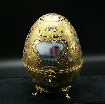 Faberge Imperial Peter the Great Egg Limoges 24k Gold