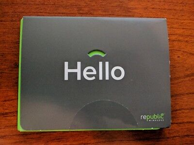 Republic Wireless GSM SIM Kit + 6 months service Activate by 1/31/18 $150 Value