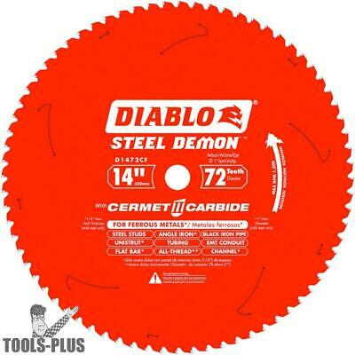 "Diablo D1472CF 14"" x 72 Tooth TCG Steel Demon Ferrous Metal Blade New"