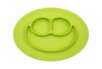 ezpz Mini Mat - One-piece silicone placemat + plate (Lime) One Size Lime