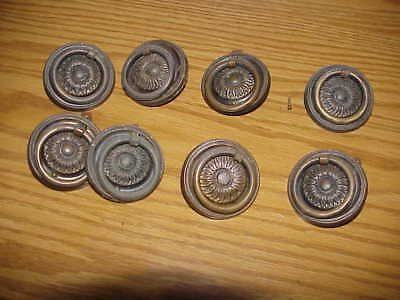 Antique Period Federal Hepplewhite Drop Ring Drawer Pulls 200 Years Old Set of 8