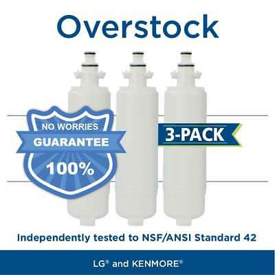 Fits LG LT700P 46-9690 ADQ36006101 Comparable Refrigerator Water Filter 3 Pack