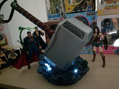 1:1 THE Avengers Full Metal Thor Hammer /Stand Base Replica Cosplay Prop Mjolnir