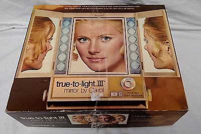Vintage True to Light III Make Up Mirror Clairol 1971 Model LM-3 EXCELLENT