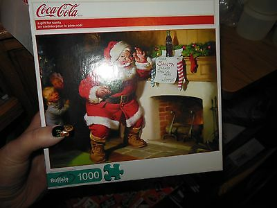 Buffalo Games 1000 Pieces Puzzle Coca Cola A Gift for Santa USED?