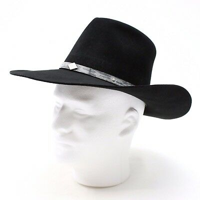 3c59aa021f2 VINTAGE CHRIS EDDY Bros Men s 6 3 4 Black Cowboy Hat XX Fur Blend 85 ...