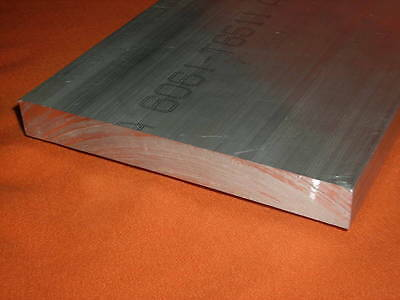 "2 PC 1-1/4"" x 3"" x 4"" 6061 Aluminum Flat Bar/Bar Stock"