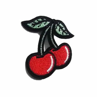 Cherry (Iron on) Embroidery Applique Patch Sew Iron Badge