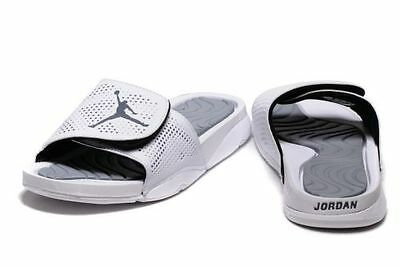 Nike Air Jordan Hydro 5 Slides NEW Men Sz 13 Sandals Flip Flops 820257 120  White
