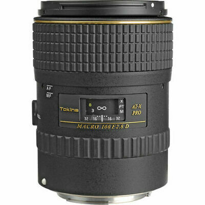 Tokina 100mm f/2.8 AT-X M100 AF Pro D Macro Autofocus Lens for Canon