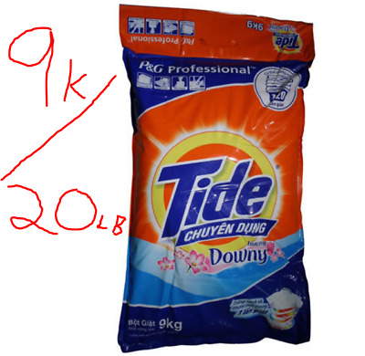 NEW TIDE PLUS + Downy Powder Detergent Professional P&G 20 Lbs / 9 Kg