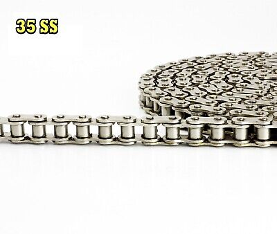 #35 SS Stainless Steel Roller Chain 3 Feet with 1 Connecting Link