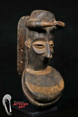 "Great Dan Bete Mask 21.5"" on Custom Mount - Côte d'Ivoire - African Art"