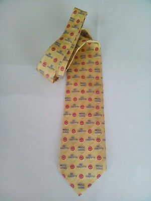 Moschino Cravatta Tie Pura Seta Pure Silk Made In Italy 1 Variante