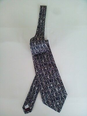 Moschino Cravatta Tie Pura Seta Pure Silk Made In Italy 2 Variante