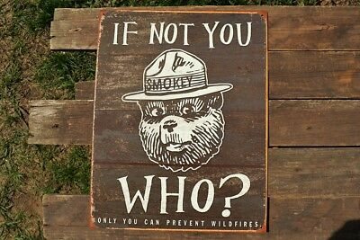 Smokey the Bear If Not You Tin Metal Sign - Only YOU Can Prevent Forest Fires