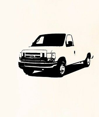 Wall Decal Mural Ford E-Series Van Commercial A1169 FRST