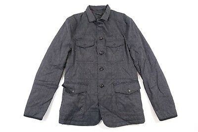 John Varvatos O1280S3L Beak Gray Small Quilted Utility Jacket Mens Nwt New