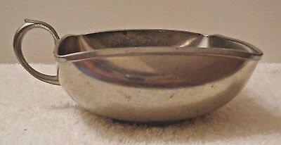 Vintage Royal Holland Pewter KMD Daalderop Square Bowl Mug with Handle