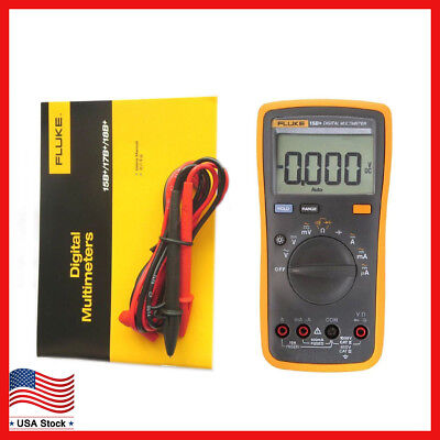 New FLUKE 15B+ F15B+ Digital Multimeter Meter Auto Range AC DC Voltage Current